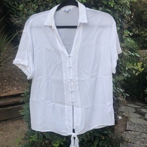 White Button Down, Size M Top from Francesca's